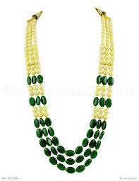 emerald green fashion necklace images Buy beautiful emerald green traditional rajwadi mala chain online jpg