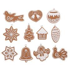 11pcs cartoon animal snowflake biscuits hanging christmas tree