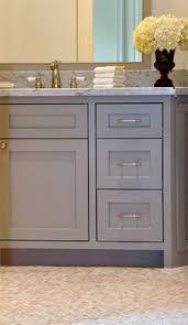 Grey Bathroom Vanity by Bathroom With Benjamin Moore Chelsea Gray Vanity And B W Artwork
