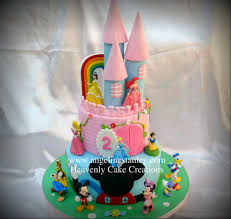 Castle Cake U0026 Mickey Mouse Clubhouse Cake