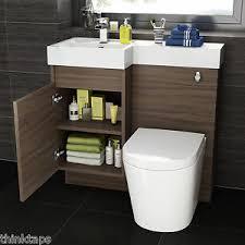 L Shaped Bathroom Vanity by 900mm Walnut L Shape Bathroom Vanity Unit With Basin U0026amp Toilet