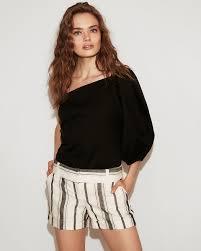 one shoulder blouse solid one shoulder blouse express