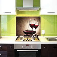 credence verre cuisine crédence en verre crédence de cuisine 75x60 cm verres à vin