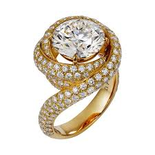 bridal gold ring yellow gold engagement rings brides