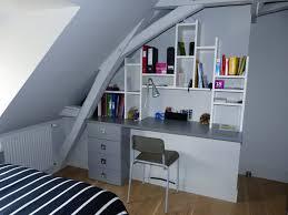 bureau sur aménagement de deux chambres d ados avec tête de lit bureau et