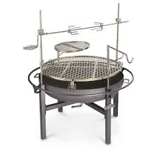 Outdoor Fireplace With Cooking Grill by Cowboy Fire Pit Rotisserie Grill 282386 Stoves At Sportsman U0027s