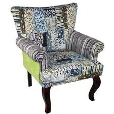 striped wingback accent chairs you u0027ll love wayfair
