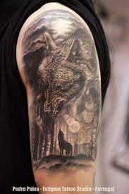 on hart the cool wolf forearm tattoos most awesome