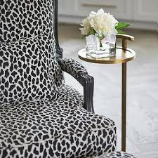 Black And White Chair And Ottoman Design Ideas Black And White Animal Print Ottoman Design Ideas
