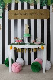 pineapple birthday party ideas shindigz