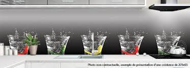 panneau credence cuisine crédence de cuisine sur mesure motif verres de coktail impression