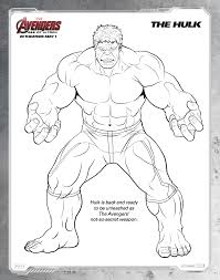 free printable avengers age of ultron coloring sheets hispana