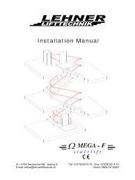 installation manual omega 2016 1 elevator