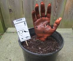 homemade halloween decorations zombie in a pot fun propdecoration