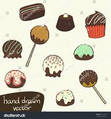 chocolate martini clipart cute set hand drawn doodle chocolate stock vector 171370517