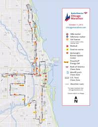 American Route Map by Bank Of America Chicago Marathon Oct 08 2017 World U0027s Marathons