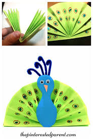 construction paper fan peacock craft kid u0027s arts and crafts