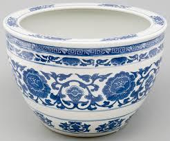 ms1013y chinese blue white fish bowl planter porcelain fis u2026 flickr