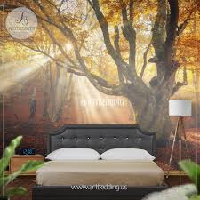 autumn forest magical old tree photo wall mural artbedding autumn forest magical old tree wall mural photo mural self adhesive peel stick