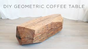 carved wood coffee table chainsaw carved geometric wood coffee table youtube