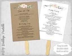 wedding program fan template 30 images of fan wedding ceremony template leseriail com