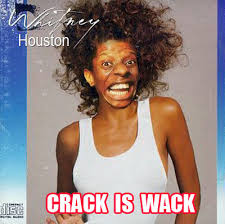 Whitney Meme - crack is wack know your meme