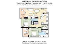 grand floor plans club wyndham wyndham vacation resorts emerald grande at destin