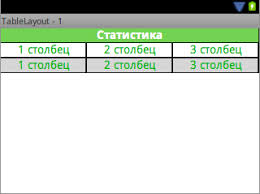 xamarin android table layout android обзор tablelayout devpad ru