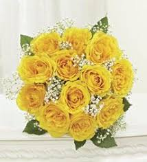 wedding flowers queanbeyan yellow wedding flowers yellow roses with freesia and gyp