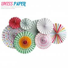 Pinwheel Decorations Umiss Fold Paper Fans Hanging Pinwheel For Party Decorations Set