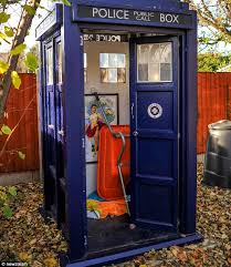 doctor who s tardis used as garden shed by in nottingham