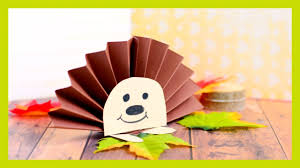 hedgehog paper rosette simple fall craft idea for kids youtube