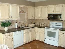 kitchen painted antique white cabinets redtinku