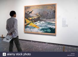 Looking For A Artist Looking At Painting Transoceanic Bombing By Toraji Ishikawa At