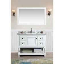Single Bathroom Vanity Set Ari Kitchen And Bath Cape Cod White 42 Inch Single Bathroom Vanity