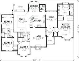 Home Plans 5 Bedroom 4 Bedroom House Plans Single Story Savae Org