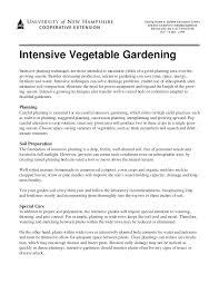intensive vegetable gardening new hampshire university