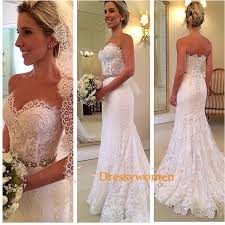 vintage lace wedding dresses a line sweetheart style vintage lace wedding dresses with