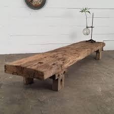primitive wooden low table espace nord ouest