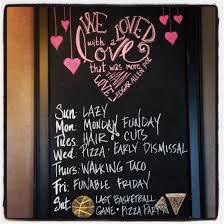Pinterest Chalkboard by February Chalkboard Calender Weekly Chalkboard Ideas Pinterest