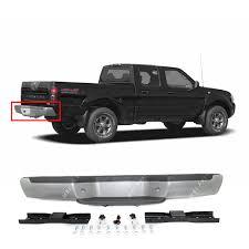 nissan frontier rear bumper replacement amazon com mbi auto steel silver rear bumper assembly w black