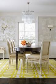 Chinoiserie Dining Room by Hand Painted Silver Chinoiserie Wallpaper Transitional Dining