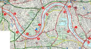 Map Running Route by Serpentine Running Club Running Boat Race