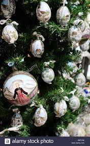 novelty christmas tree decorations featuring scenes from sound of