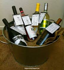 bridal shower wine basket semi charmed of the bridal shower gift a