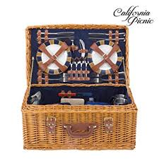 picnic basket set for 4 picnic basket set deluxe marshall collection 4