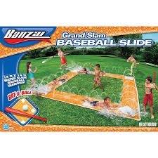 amazon com banzai grand slam baseball water slide toys u0026 games