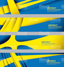 Sweedish Flag Abstract Sweden Flag Swedish National Colors Stock Vector Art