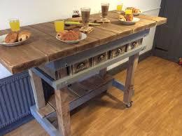 solid wood kitchen island handmade solid wood kitchen island breakfast bar butchers block