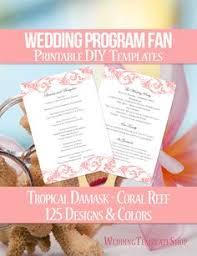 wedding program fan wording diy printable wedding program fan template shown here in the grace